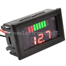 12V ACID Lead Battery Capacity Indicator Charge Level LED Tester Red Voltmeter