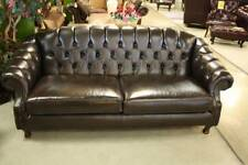 a Classical French Chesterfield 3 Seat Sofa 100 Leather up to 5 Year
