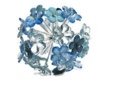 Pier 1 Imports Glass Flower Sphere Ball Blue Bowl Filler New