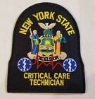 NY EMS Critical Care Technician Emergency Medical Services Patch - Navy