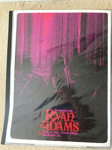 Ryan Adams Screen Printed Show Poster Washington DC July 2016 limited edition