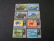 BRITISH HONDURAS, SCOTT # 200-203(4)+204-2074), TOTAL 8 1966 PICTORIALS USED