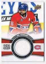 2015-16 UPPER DECK SERIES 1 P.K SUBBAN JERSEY 1 COLOR MONTREAL CANADIENS #GJ-PK