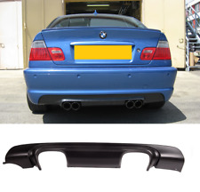 BMW 3 series E46 2dr 4dr M sport M3 CSL stye quad rear diffuser bumper valence