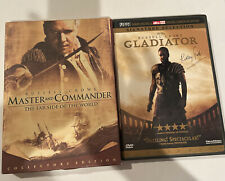 Two Russell Crowe Dvds Master & Commander Collectors & Gladiator!