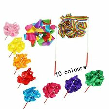 Haawooky 10 Pcs Multi-Colored Kids Dancing Gymnastics Ribbon Wands for Kids A.
