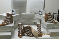 Marc Fisher Womens Patsey Brown Suede leather Heels Sandals Shoes size 8.5 m