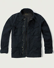 "Mens Abercrombie & Fitch Military Jacket Size M 38""-40"" Navy Blue"