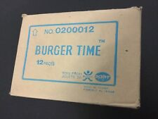 VINTAGE#POPY Bandai LCD BURGER TIME  Game Watch Handheld Rare MOTHER CARTON