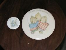 2 Vtg Betsey Clark America, You're Beautiful, A Little Kindness Pinback buttons