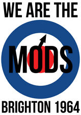 """We Are The Mods Brighton 64 NEW A1 Size 84.1cm x 59.4cm -approx 33"""" x 24"""" Poster"""