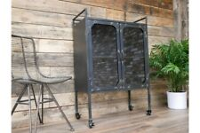 Industrial Metal wine Cabinet With 2 Doors