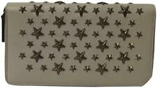 Jimmy Choo New Stars Studded Zip Around Leather Wallet