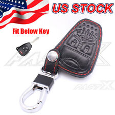 Leather Remote Key Fob Cover Protector For Jeep Liberty Compass Patriot Wrangler
