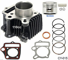 110cc Cylinder Gasket Set 52.4mm Piston Pin Ring Kit for ATV Go Kart Dirt Bike