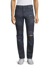 True Religion Mens Rocco Drift Moto Pant Jeans Size 40 X 32 Onyx Wash 100827