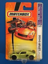 2007 Matchbox LIME 2006 LOTUS EXIGE S UK luxury sports coupe mint on long card!