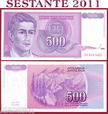 YUGOSLAVIA  500   DINARA 1992 -    Prefix AA  -    P  113   FDS / UNC