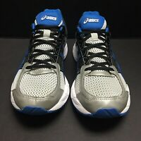 Asics Mens Gel Contend 4 Athletic Running Shoes Silver Blue Black Size 10 Us