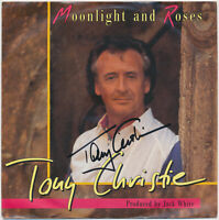 "TONY CHRISTIE  Moonlight And Roses - 7"" Single original Autogramm auf Coverhülle"