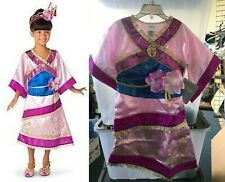 Disney Store Deluxe Mulan Halloween Pink Costume Gold Belt Dress up Sparkle 2T