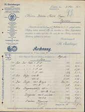 LEIPZIG, Rechnung 1913, Fabrik medizinischer Verbandstoffe H. Steinberger