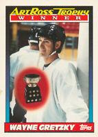 Wayne Gretzky 1991-92 Topps #522 LA Kings Hockey Card