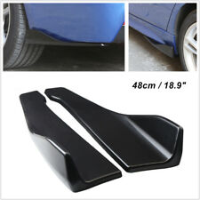 Pair Car Bumper Spoiler Rear Lip /Side Skirt Extension Splitters Wings Universal