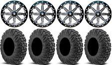 "MSA Lok 14"" UTV Wheels 28"" MotoVator Tires Kawasaki Mule Pro FXT"