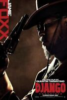 Django Unchained Jamie Foxx Double Sided Original Movie Poster 27x40 inches