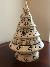 Boleslawiec Polish Ceramic Christmas Tree tea light Holder