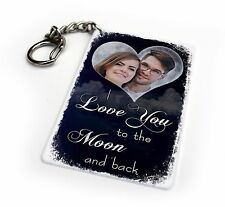 I Love You To The Moon And Back Personalised Valentines Keyring & Fridge Magnet