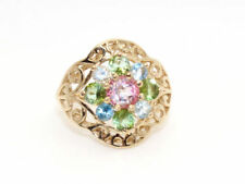 Gems TV Cluster Natural Yellow Gold Fine Rings