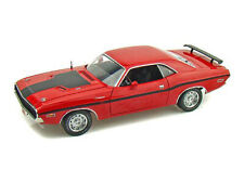 1970 Dodge Challenger R/T Red With Stripes 1/24 Scale By Highway 61 50836