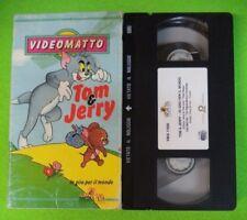 VHS film TOM & JERRY In giro per il mondo VIDEOMATTO animazione (F15) no dvd
