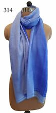 New 100% Wool Cashmere Blue Ombre' Women's/Ladies Winter Scarves/Stoles/Shawls