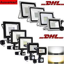 LED Fluter mit Bewegungsmelder/Stecker 10-100W Außen Strahler Scheinwerfer IP65