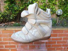 Authentic Isabel Marant Cuir de Veau velours cuir Femme Baskets, chaussures taille 39
