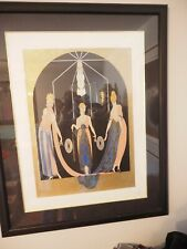 """Erté (1892–1990) """"THREE GRACES"""" serigraph, 1985 In Frame 78/125"""