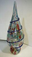 Murano Glass Blown glass art Christmas Tree Beautiful Details unmarked