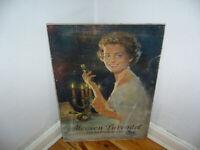 Grosser Mouson Lavendel Postkutsche Reklame Aufsteller original 30er 40er Antik