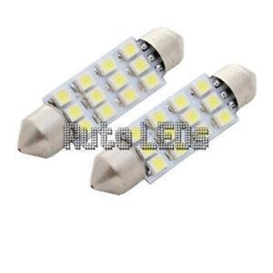 1 White SMD LED 42mm Festoon 12v Interior LED Bulb