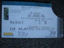 Udo Jürgens-Altes Ticket-23.02.2004-Berlin-Gebrauchte Konzertkarte-Max-Schmeling