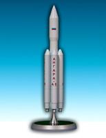 "Handmade ""Angara A5"" launch vehicle 1/144 metal scale model"