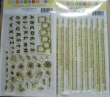 Sunday International Clear Art Stamps x 2 Sets, Tag Alphabet & Word Definitions