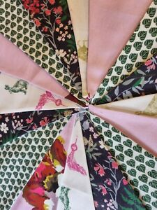 New handmade bunting in JOULES cotton fabric ,3.6mtr,16 flags, garden,house (37)