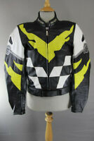 HEIN GERICKE PRO SPORTS LEATHER BIKER JACKET WITH REMOVABLE PROTECTORS 40 INCH
