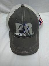 PUERTO RICO Shark Ball cap Baseball HAT MAU92226 GRAY AND BEIGE