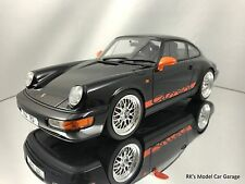 "GT Spirit Porsche 911 (964) Carrera RS 17"" Cup Rims Black and Orange 1/18"