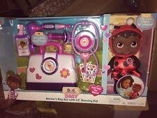 "Disney JR. Doc McStuffins Doctor's Bag W/Lil"" Nursery Pal (Ladybug) 10 Pc Set"